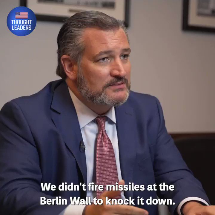 """""""The communist government in #China is the new evil empire.   …We need to have the same comprehensive strategy, much like we did in winning the Cold War, we need to have the same strategy for defeating China.""""   —@TedCruz on ATL🇺🇸   🔴PREMIERE 7pm ET:"""