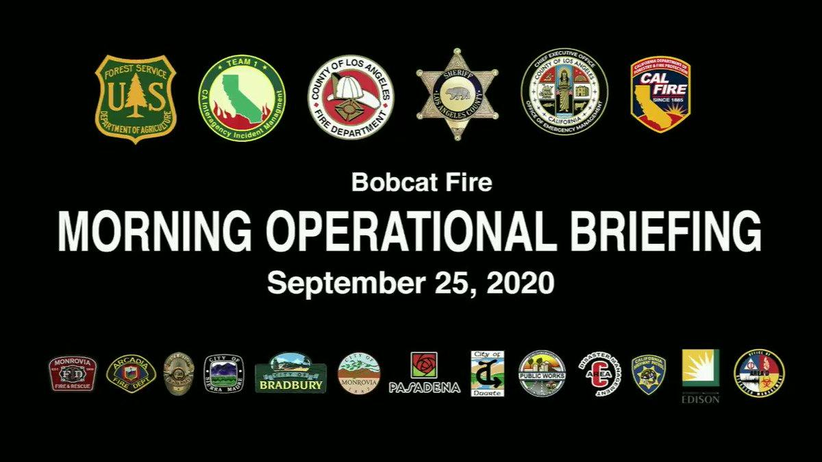 RT @Angeles_NF: #BobcatFire Morning Operational Update for September 25, 2020 #LACoFD #LACoFDPIO