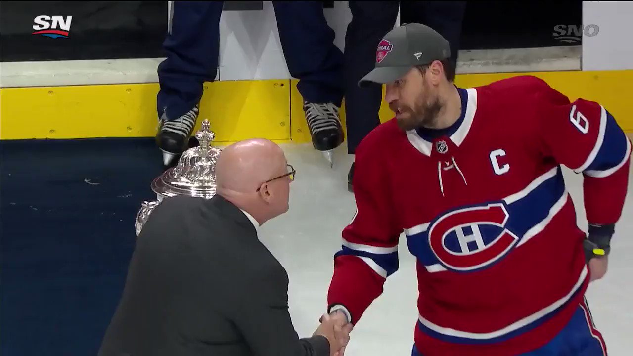 Not touchin' the Clarence S. Campbell Bowl. 🏆  #ItsOn | @CanadiensMTL https://t.co/hsVoUSYD2W