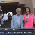 .@ChristinaBlackr talks with winning trainer Art Sherman after California Chromes victory in the San Diego! https://t.co/BhQGM5FvfG