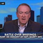 """Huckabee: """"If they cant control their own email maybe they shouldnt be controlling the state secrets of the U.S."""" https://t.co/7FHGQ8UT1z"""