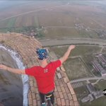 Professional unicyclist rides atop an 840-foot chimney in Romania in a nail-biting video. https://t.co/HWVbfaB9oq