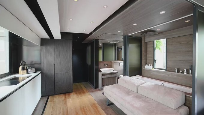 This 309-square-foot micro apartment has a home theater, full kitchen, and even a guest bedroom https://t.co/FXak5dYrp3