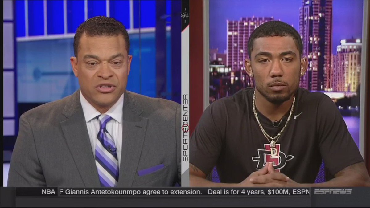 #Pumphrey4Heisman joined @michaeleaves on @SportsCenter today and discussed his season to date. #AztecFB #Win21 https://t.co/vgQ6Ou4ONM