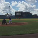 HOME RUN TIM TEBOW! Tim Tebow goes yard on the first pitch he faced in his first instructional league game. (via @Katie_Johnson_) https://t.co/AGvg281WfU