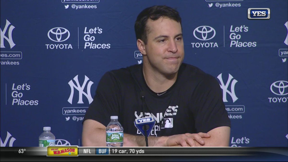 "Mark Teixeira on playing his final game in a @Yankees uniform: ""I'll always be a Yankee."" #ThankYouTex https://t.co/pVb0xtdSBa"