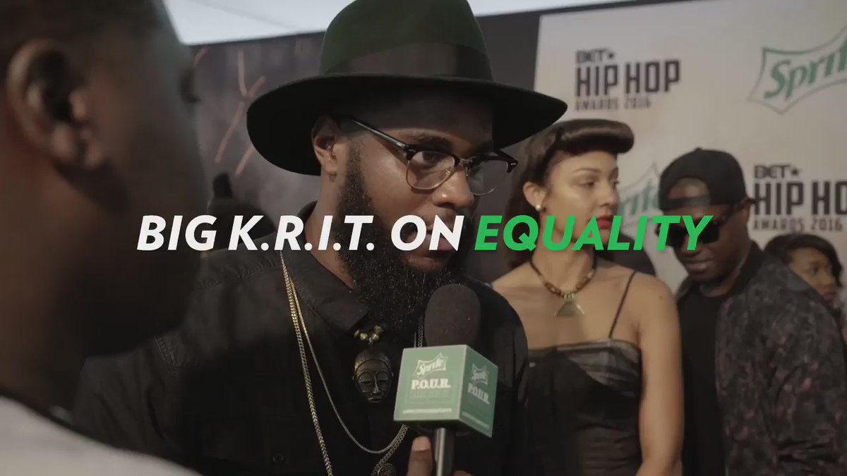 Peep what Big K.R.I.T. had to say on the Sprite green carpet before he hit the @BET #HipHopAwards stage. https://t.co/1QhhHcyZsm
