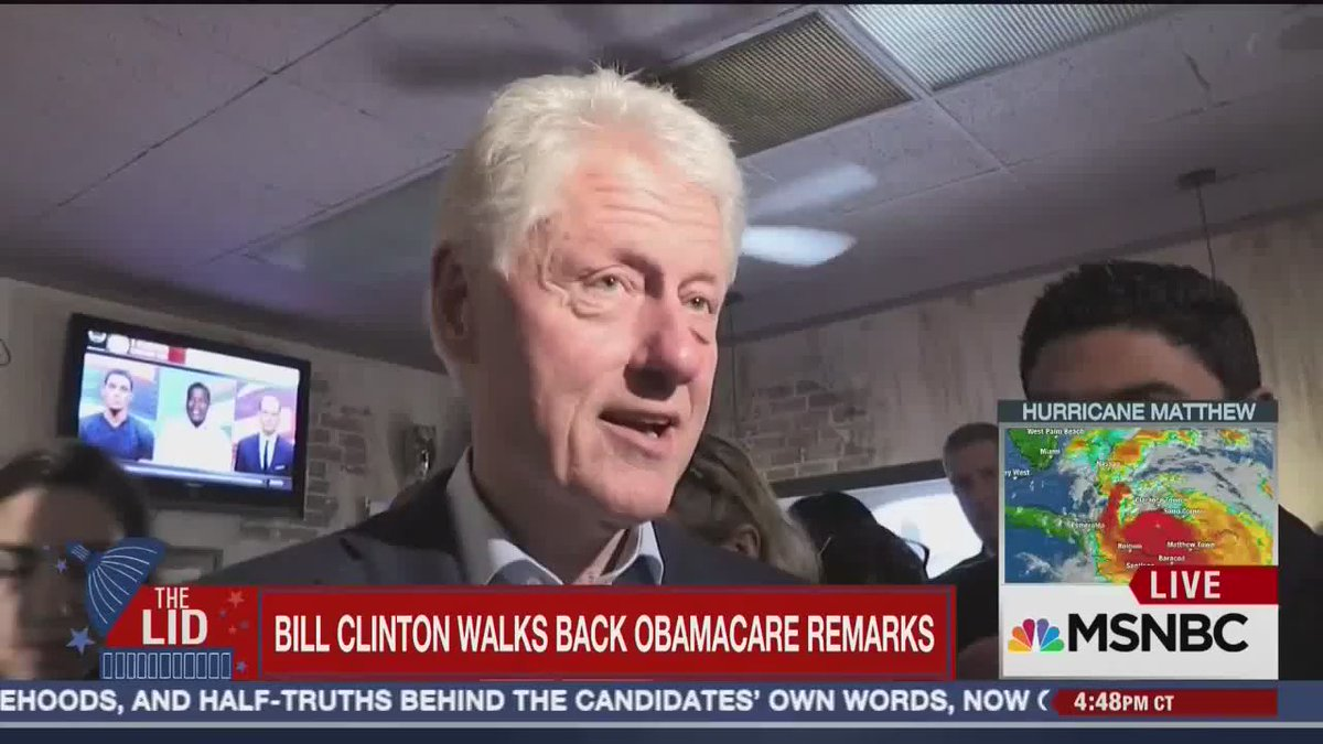 ".@ChuckTodd: Bill Clinton Obamacare remarks ""a real problem for Democrats, may leak down the Congressional ballot"" https://t.co/4yJm7VIdg7"