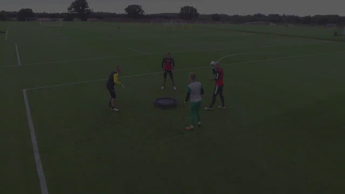 Our drone captured this unbelievable rally in @deankiely40's innovative goalkeeper drill, Spikeball! https://t.co/KUiCkAXkAg