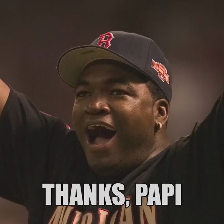 Thank you for an INCREDIBLE career, @davidortiz! #RedSox #ThanksPapi https://t.co/tnYnWpCDYO
