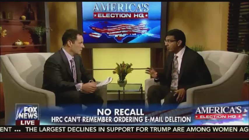 """WikiLeaks has become the investigative journalism of America. The mainstream media is not doing it."" -@DineshDSouza https://t.co/FQxmwRRhsQ"