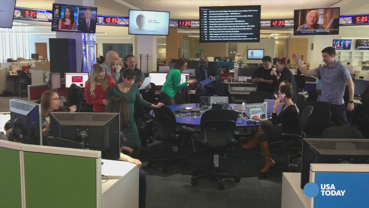 USA TODAY took the Mannequin Challenge, tweet us yours!