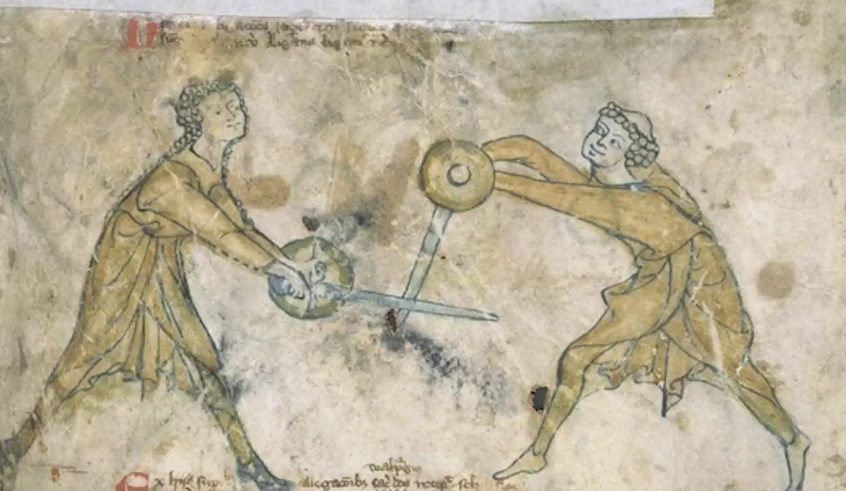 The medieval combat manual that's difficult to pronounce.  We decided to animate it! #BritainsArmedHistory https://t.co/12xIwJQDCN