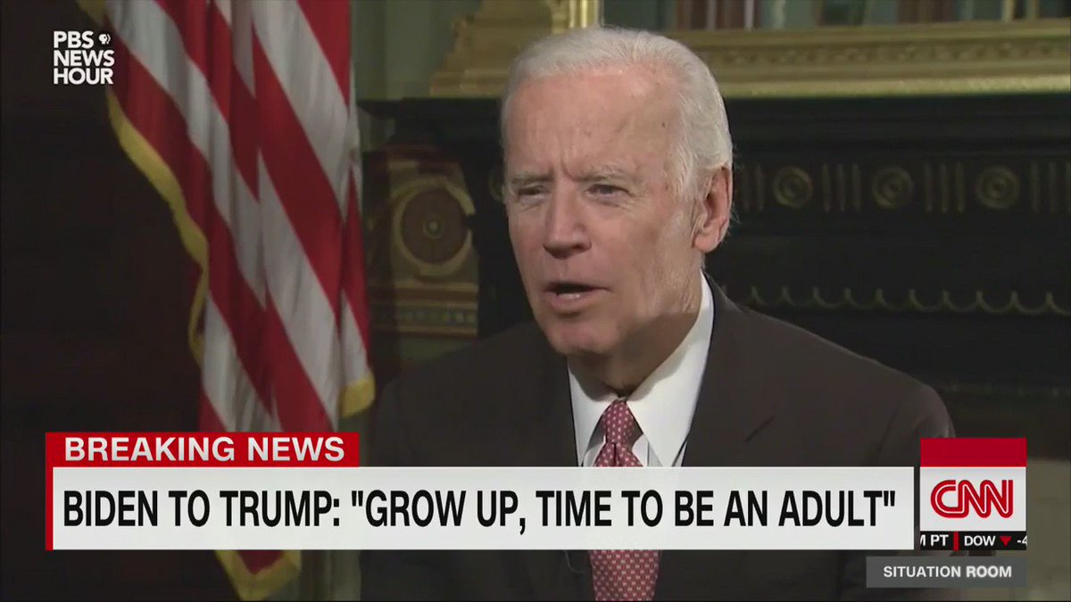 "Vice President Joe Biden has a message for the next President: ""Grow up, Donald."""
