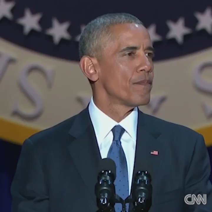 Obama tearfully thanks his wife Michelle in emotional moment at #ObamaFarewell https://t.co/auGBoC6uLR https://t.co/flZuOSoxEP