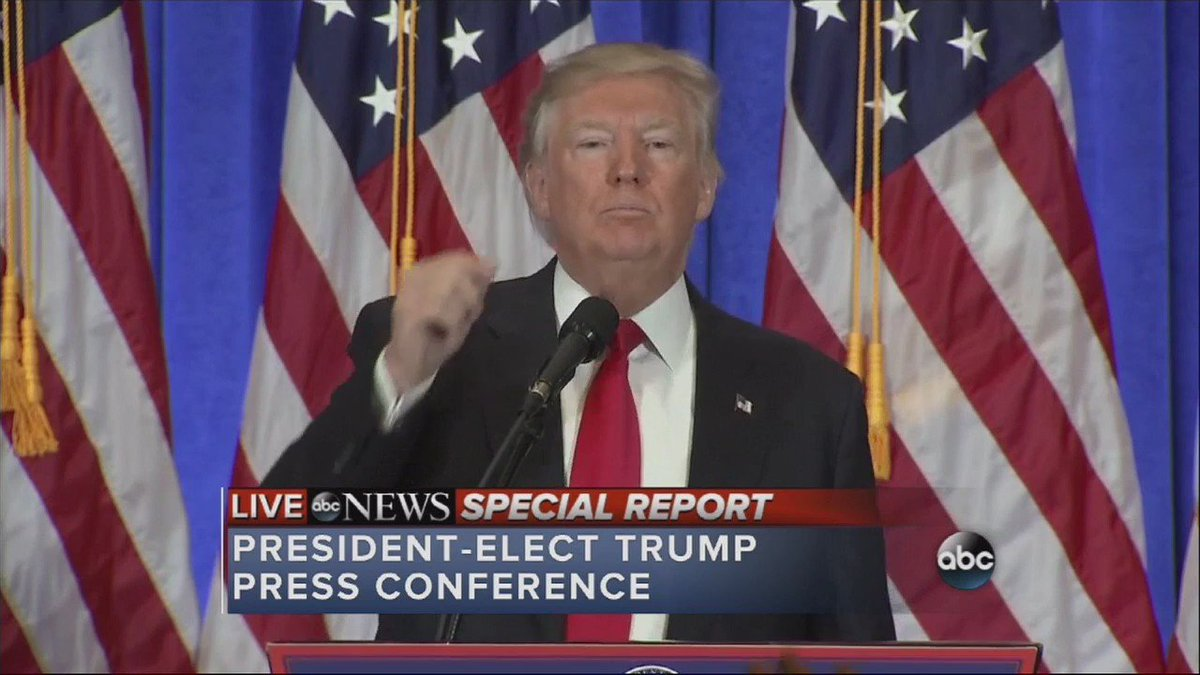 "CORRECTION @realDonaldTrump calls BuzzFeed ""failing pile of garbage,"" refuses to answer CNN reporter's questions"