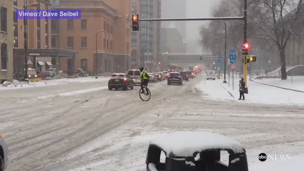 WATCH: Another snowy day in Minneapolis. Better hop on the unicycle and get to work: https://t.co/yV2TrYijBv https://t.co/A2L94RK1dt