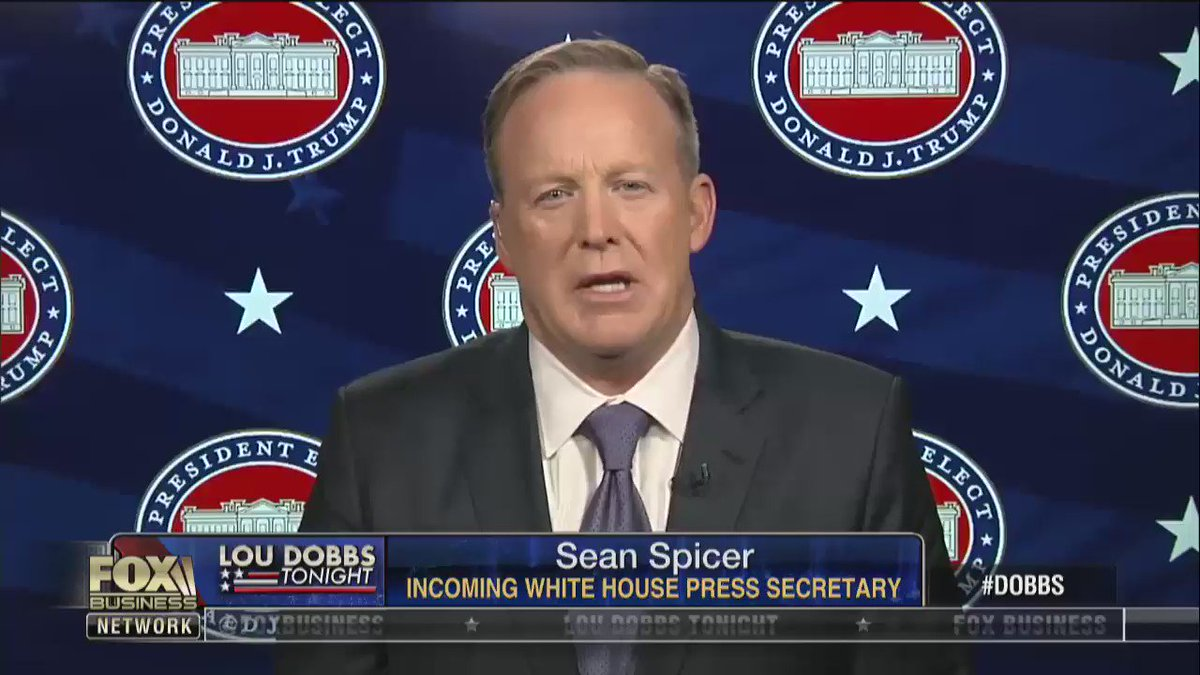 """.@seanspicer on Rex Tillerson """"He is a man of immense greatness, immense concern for this country."""""""