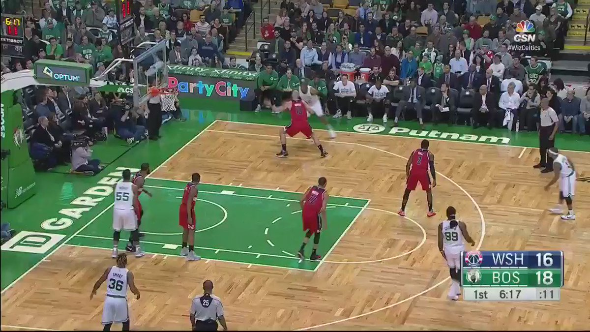 John Wall ��️ into the dish is tonight's #AssistOfTheNight! https://t.co/Q8fHjm6ukH