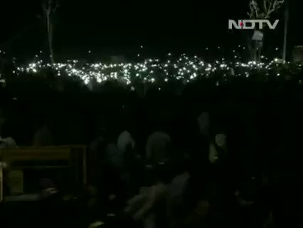 From torchlight to #WhatsApp At Marina Beach, the cellphone is a powerful tool