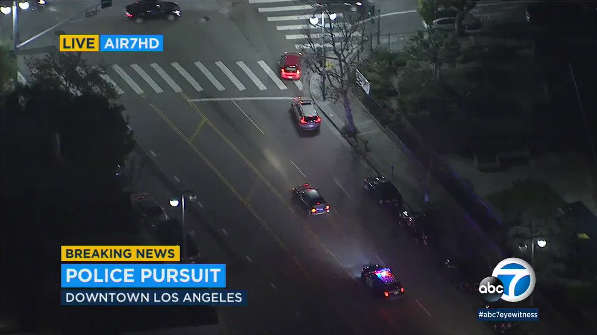 Wild #chase ends with PIT maneuver in Boyle Heights
