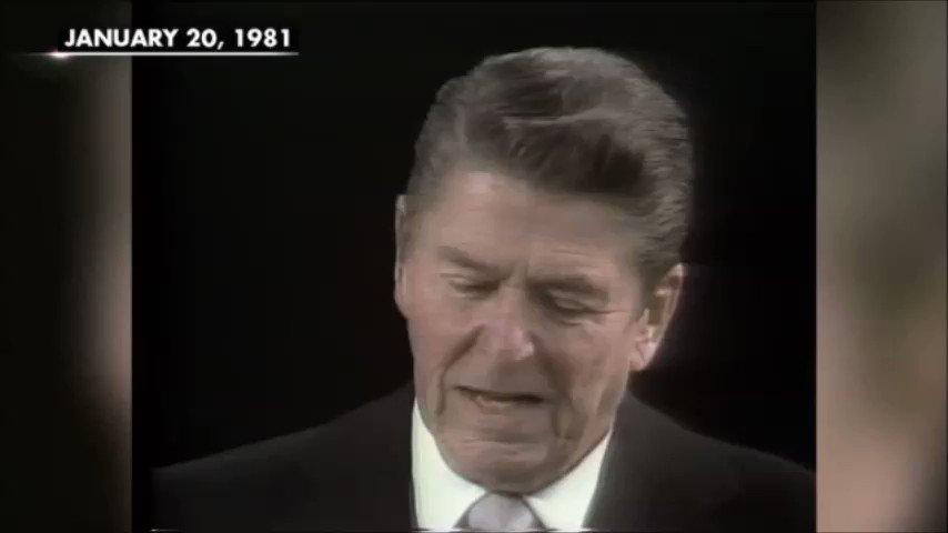 "FLASHBACK Ronald Reagan's inaugural address ""We are a nation that has a government, not the other way around."""