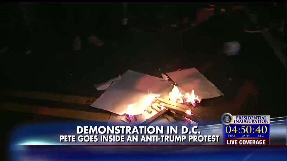 .@PeteHegseth gives an inside look at anti-Trump DC protests.