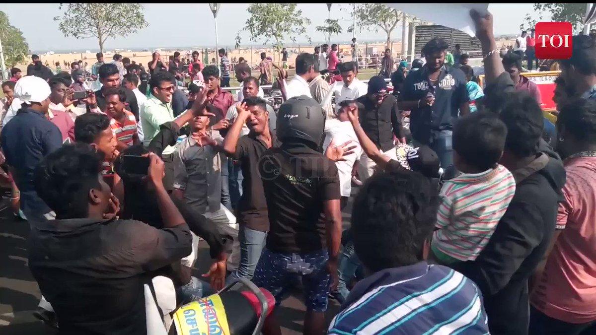 Pro-jallikattu protestors occupy Chennai's Marina Beach for the fourth consecutive day