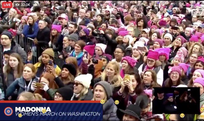'Donald Trump suck a dick, I'm not your bitch!' - Madonna singing at #WomensMarch. https://t.co/8Uq1k4u1eq