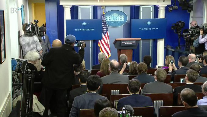 FACT CHECK: WH's new press secretary lied 4 times during a 5 minute speech. #Trump #SpicerFacts