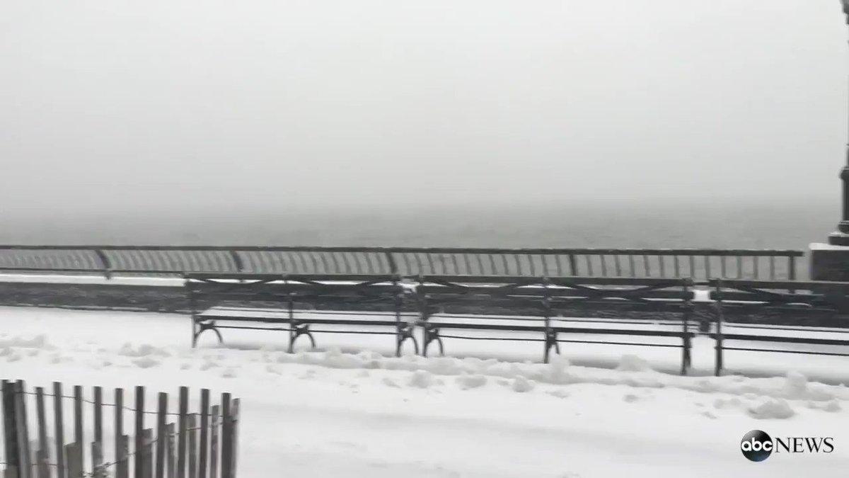 Massive winter storm brings thundersnow to New York City.