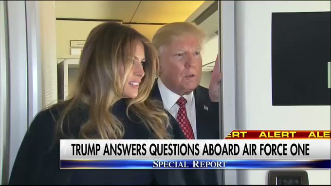 .@POTUS answers questions aboard Air Force One. #SpecialReport