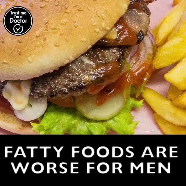 Combining a diet of unhealthy fat with sugar is worse for men than it is for women. #TrustMeImADoctor https://t.co/MnAsPgXG0V'