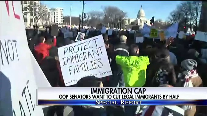 GOP Senators want to cut legal immigrants by half. #SpecialReport