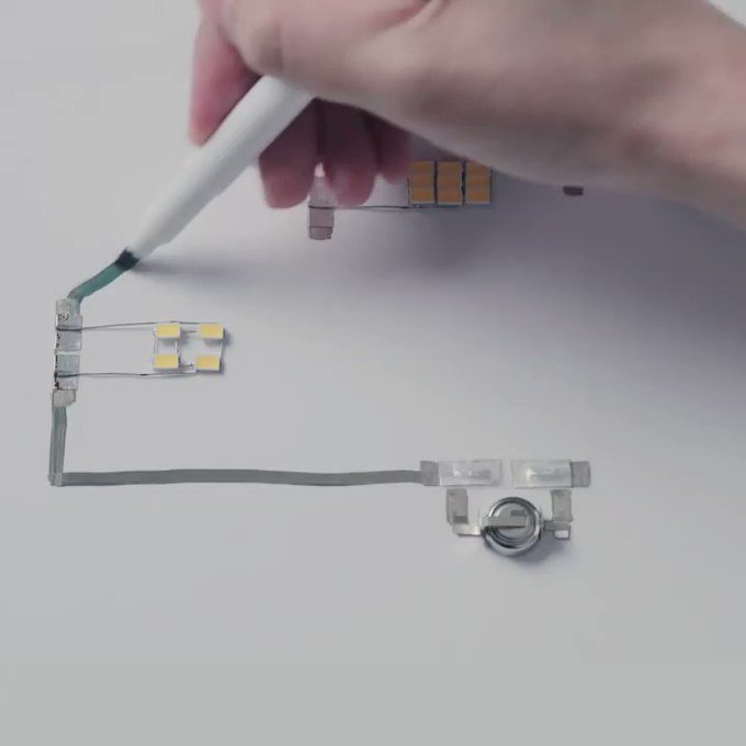 You can draw electrical circuits with pen