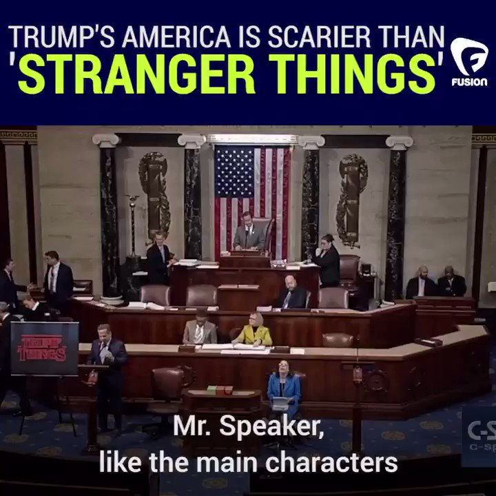 This Congressman compares the Trump administration to Stranger Things https://t.co/g9QcnCvqKf https://t.co/4XYI2br1B8