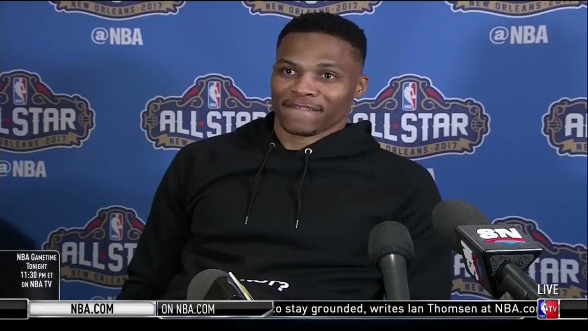 Russ with the best Eurostep of #NBAAllstar weekend https://t.co/66oAoCaLqn