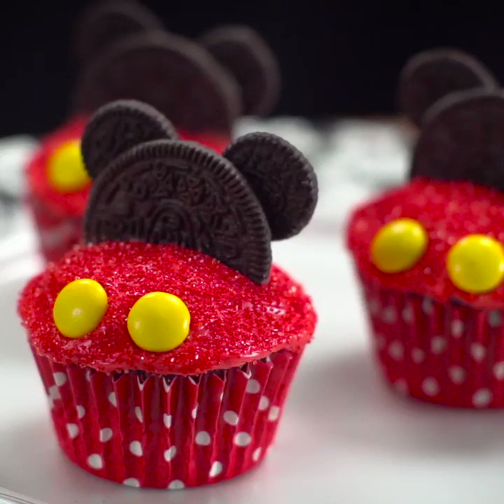 .@Disney_Family's Mickey cupcake will make you smile from ear to ear.