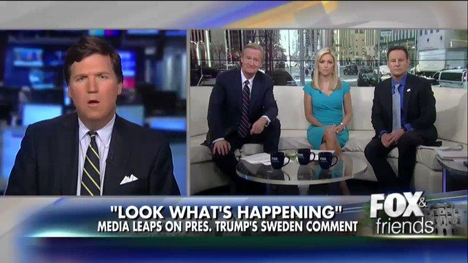 .@TuckerCarlson reacts to President #Trump's Sweden remark. https://t.co/6hpfBZnAz2