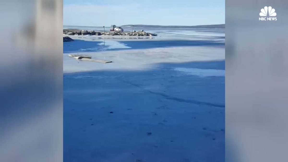 WATCH: Driver makes unfortunate choice to drive on thin ice in Wisconsin, takes unexpected polar plunge.