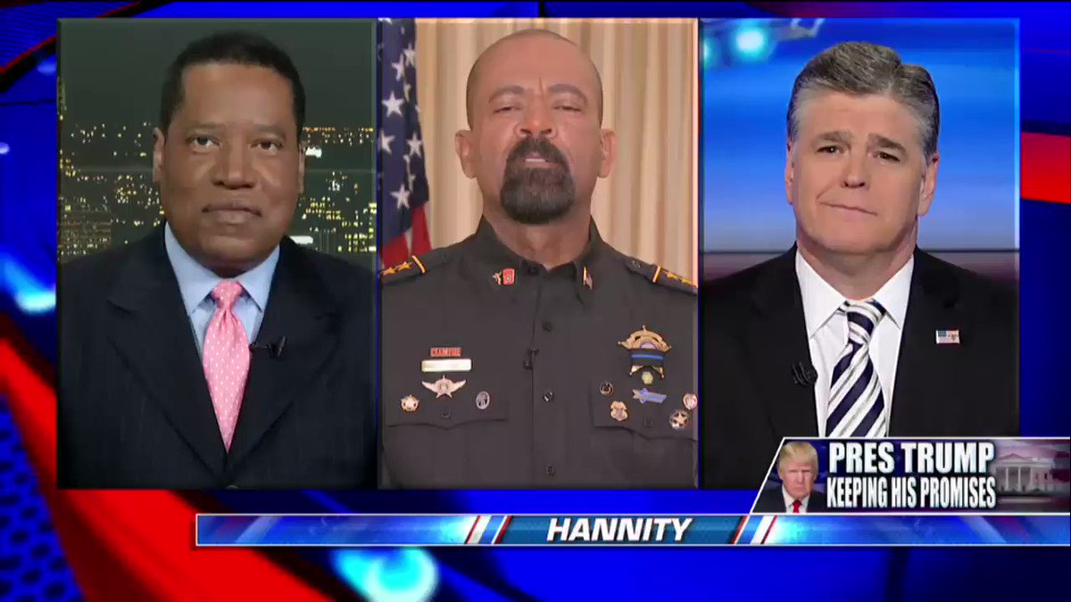 .@SheriffClarke: 'Leadership has returned to the @WhiteHouse.' #Hannity