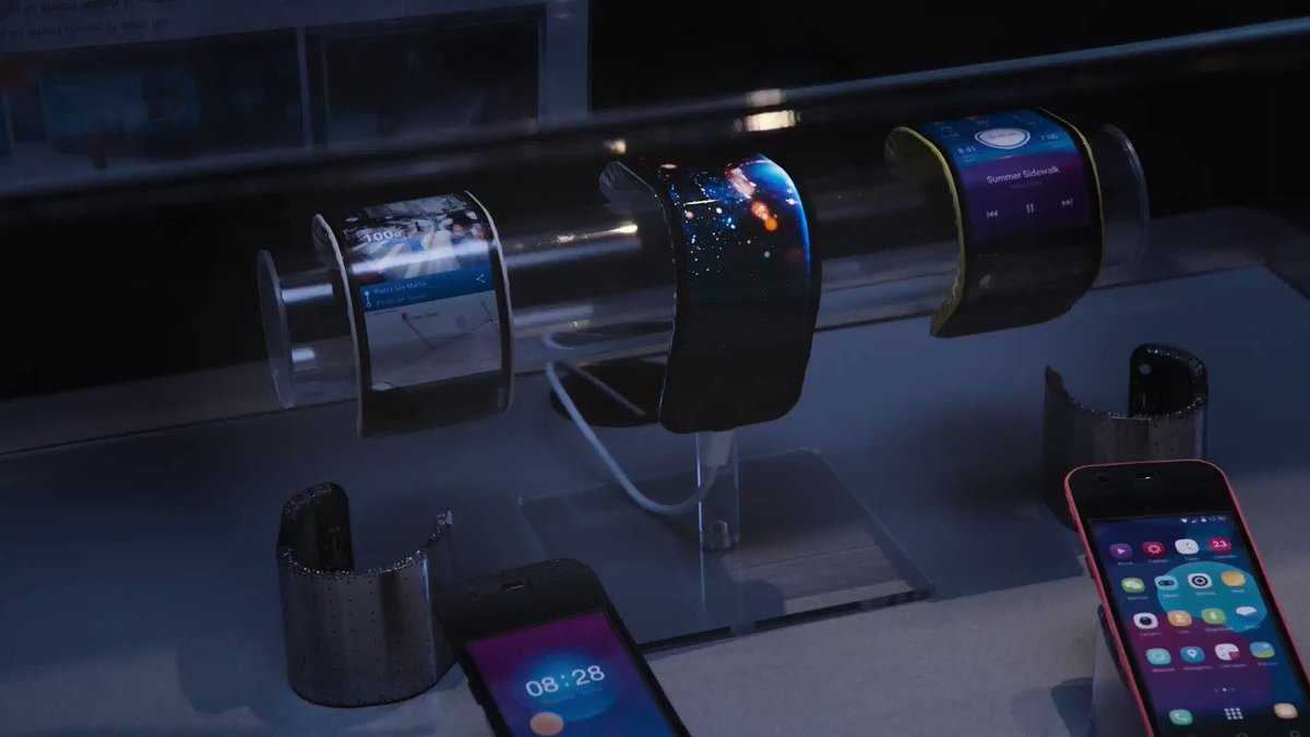 This phone bends around your wrist