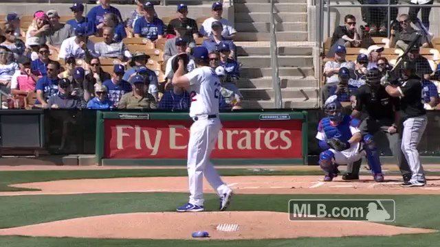Kersh starting 2017 off NASTY. �� #LetsGoDodgers https://t.co/FadTZKJrdH