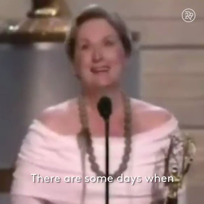 @refinery29: #MondayMotivation from Meryl Streep. Color us inspired! https://t.co/Sr6m4IUt1F