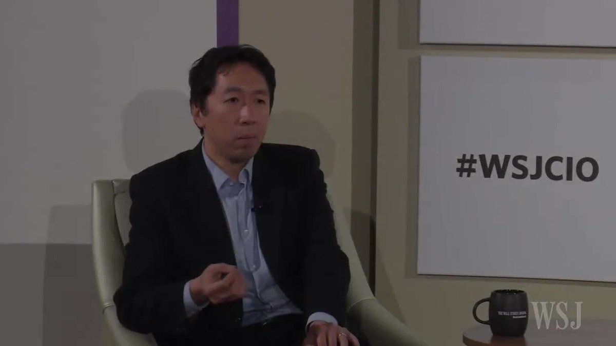 Baidu's chief scientist @andrewyng on how the old model of education has to change for today's workforce #wsjcio