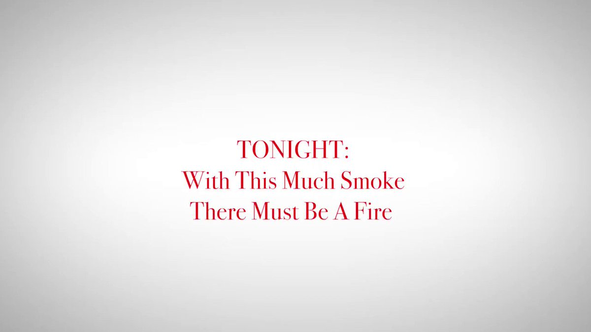 RT @colbertlateshow: Tonight! With this much smoke in Washington, there must be a fire. #LSSC https://t.co/ztyHzC8M3A
