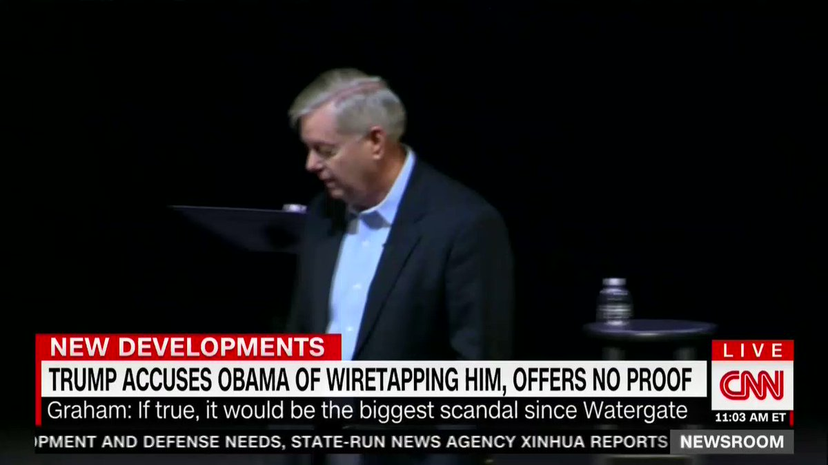 """I'm very worried…""   Sen. Lindsey Graham speaks on Trump accusing Obama of illegal wiretapping https://t.co/tP05KgXfke"