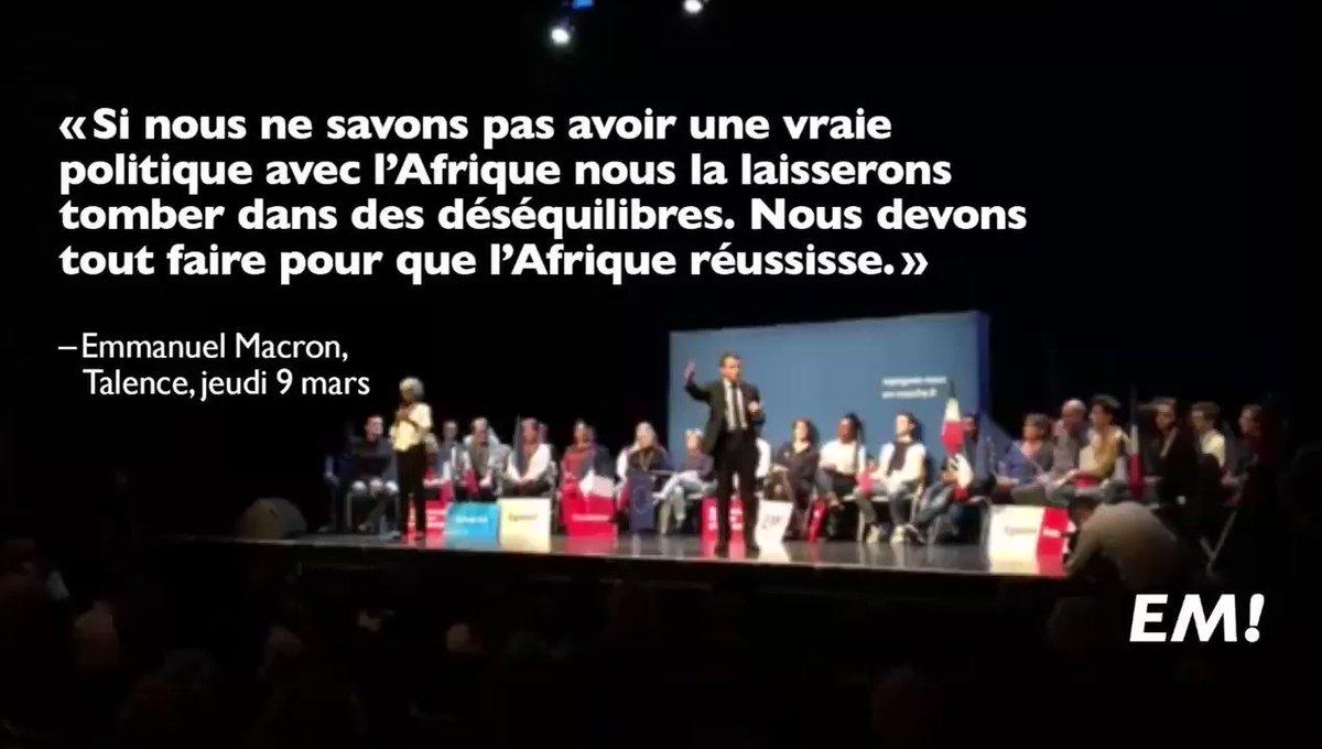 Tout faire pour que l'Afrique réussisse. #MacronGironde https://t.co/HrcIJj2arp