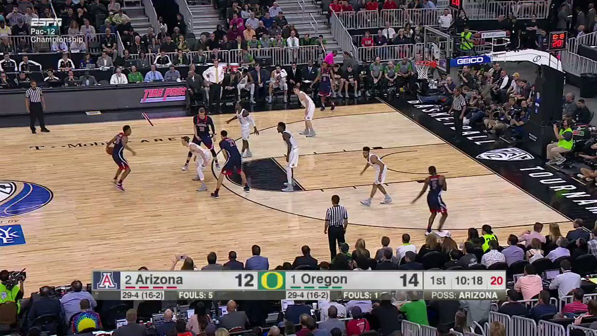 Can Arizona keep it rolling?   Catch the second half on ESPN! https://t.co/Lw421deOCa