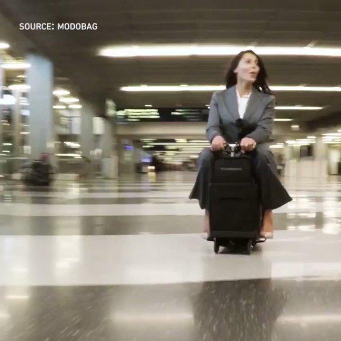 [#Fun] Tu veux gagner du temps dans un #aéroport  ? Prends ta valise !  #transport #mobilité #tech #innovation  https://t.co/LyqKrdkuSv